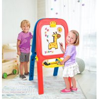 Crayola 3-in-1 Double Easel with Magnetic Letters (Blue, Red)