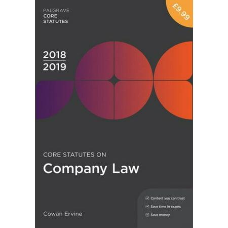 Core Statutes on Company Law 2018-19