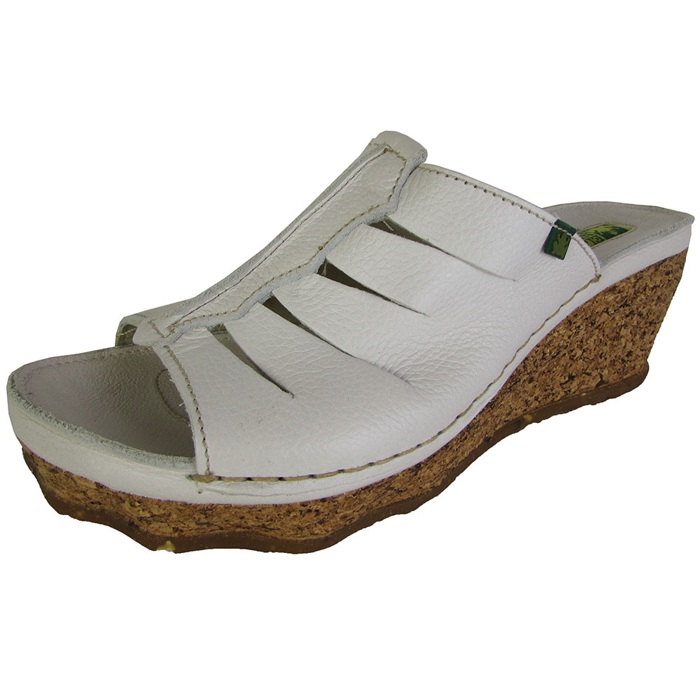 El Naturalista Womens N400 Cork Oak Wedge Sandal Shoes