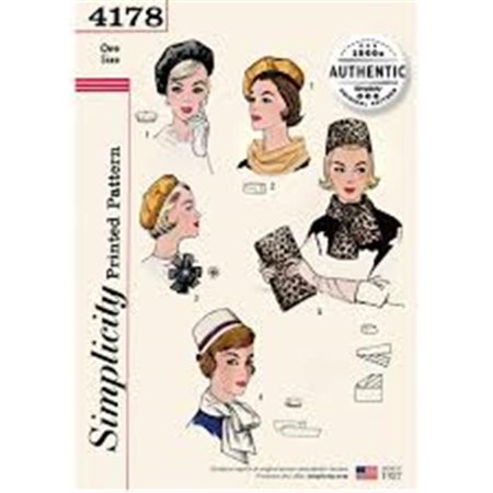 89703b61424b Simplicity Patterns UV4178OS 1960s Authentic Misses Original Vintage  Pattern - One Size