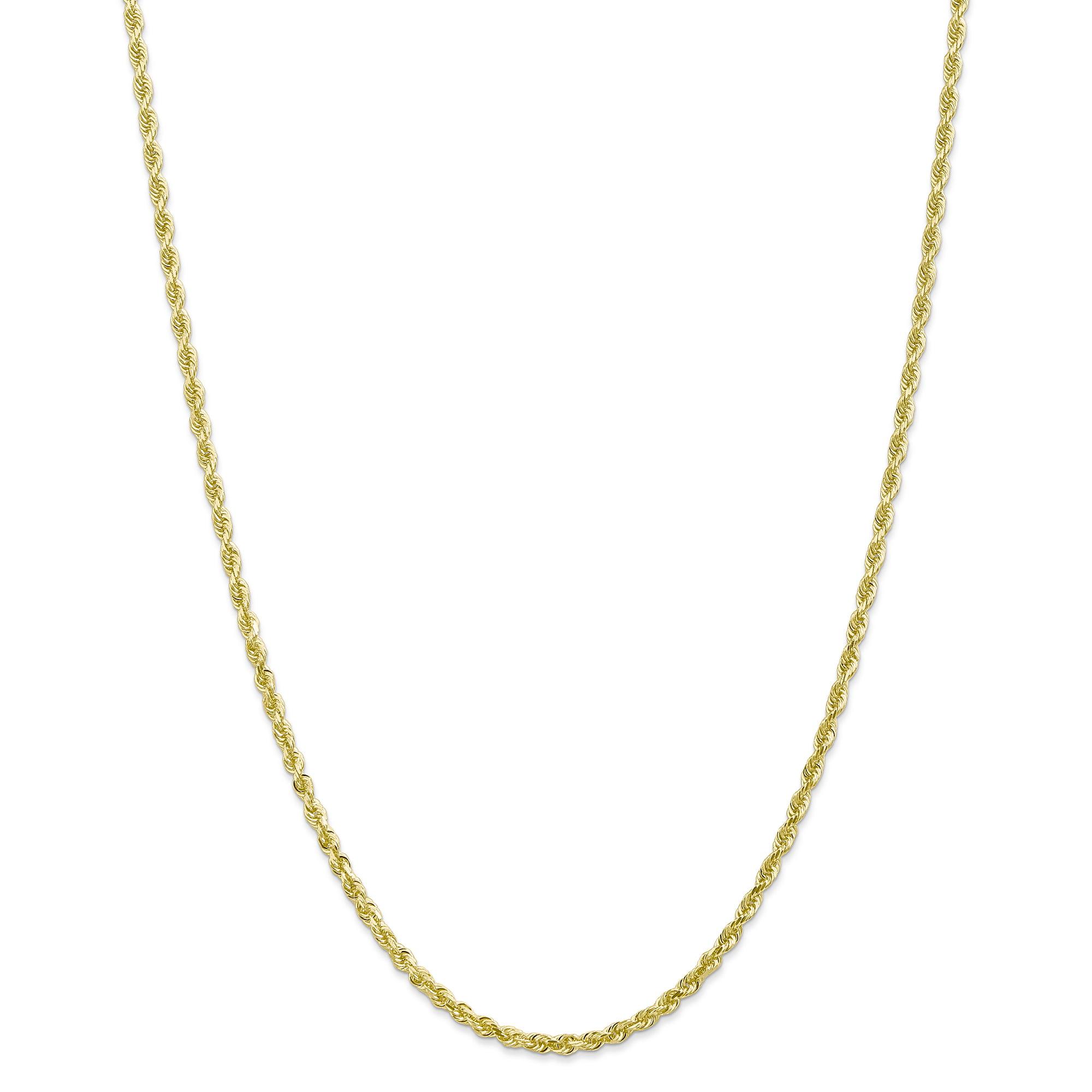 10K Yellow Gold 3.0mm Diamond Cut Quadruple Rope Chain 18 Inch - image 5 of 5