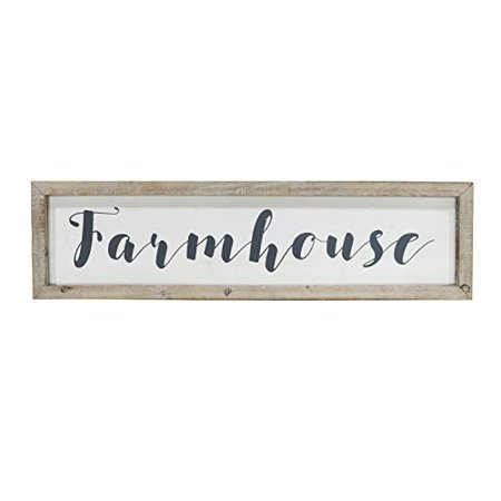 Barnyard Designs Large Framed Farmhouse Sign Rustic Vintage Primitive Country Wall Decor 30