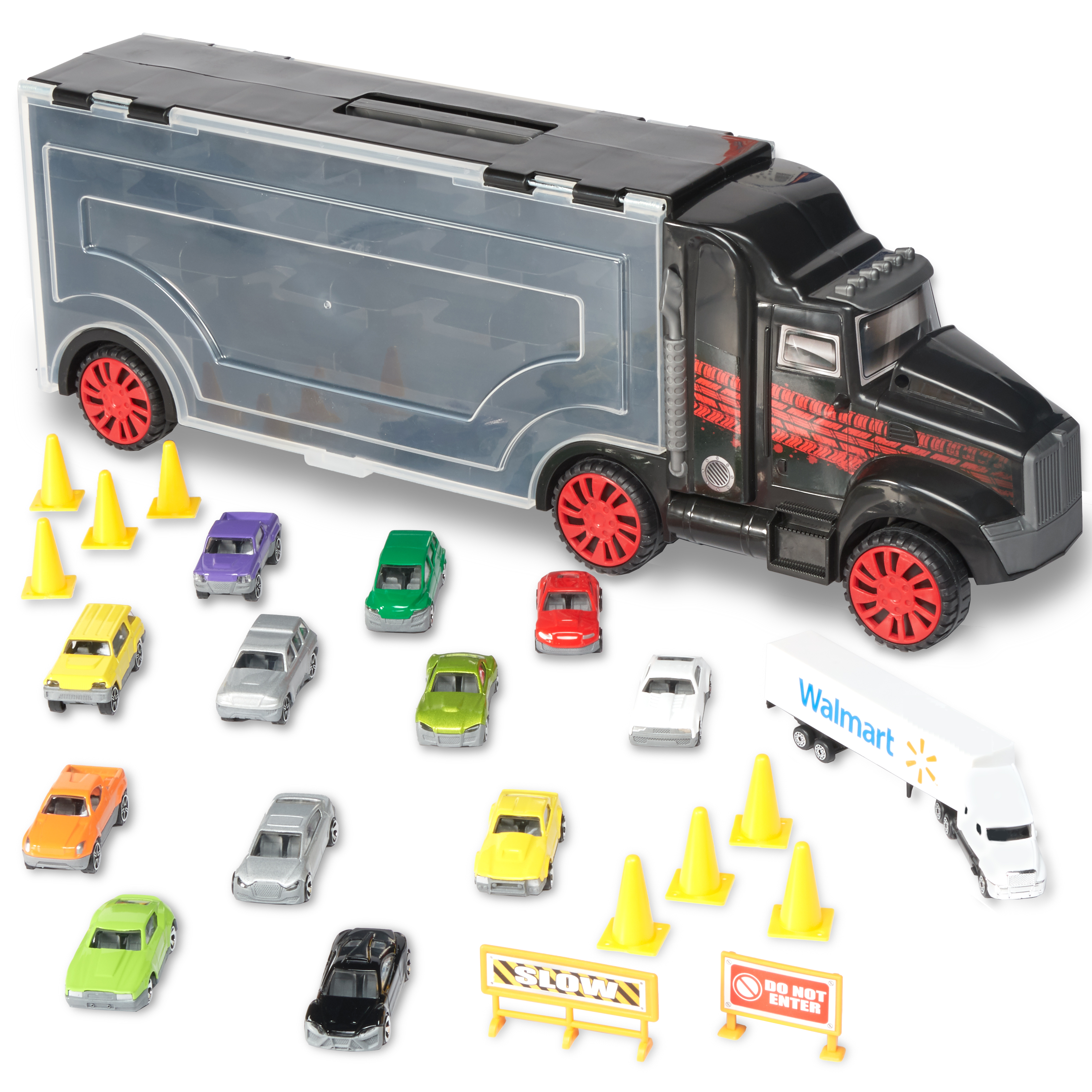 Kid Connection Big Rig Carrying Case 24-Piece Set