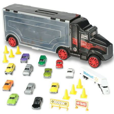 Kid Connection Big Rig Carrying Case 24-Piece Set Big Rig Truck Games