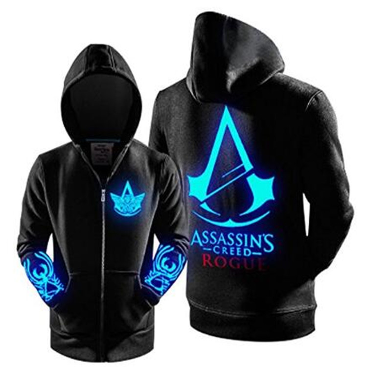 Assassin's Creed Luminous Rogue Logo Hoodies Adult Zip Up...