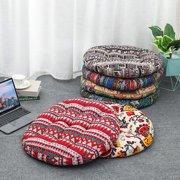"1/2/4 Pcs Round Floor Seat Pillows Cushions 22"" x 22"", Soft Cotton Linen Bohemian Yoga Mandala Meditation Pouf Tatami Floor Pillow Cushion for Living Room Adults & Kids Casual Reading Nooks"