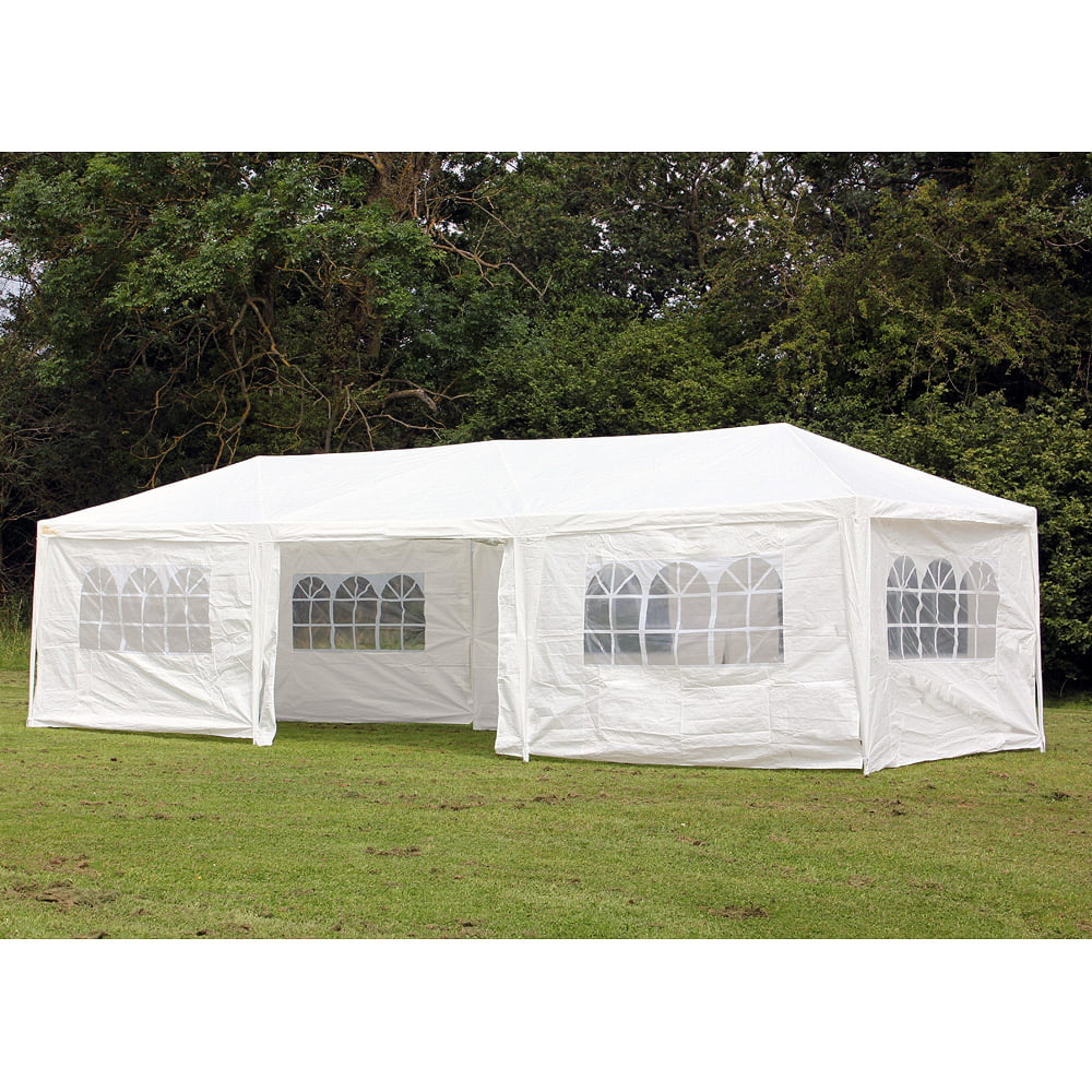 Party Tents 10/'x30/' Outdoor Canopy Wedding Waterproof Tent Gazebo w//5 Side Walls