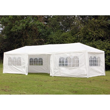 Party City Tents (PALM SPRINGS 10' x 30' Party Tent Wedding Canopy Gazebo Pavilion w/Side)