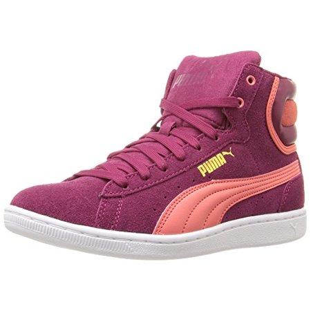 Sonderverkäufe Original- verschiedene Arten von PUMA Women's Vikky Mid Sfoam Fashion Sneaker, Red Plum/Porcelain Red, 6 M  US (8 B(M) US)