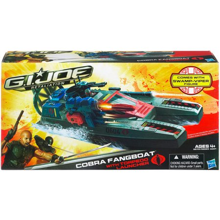 Gi Joe Cobra Girl (G.I. Joe Retaliation Cobra Fang Boat with Swamp-Viper Action)