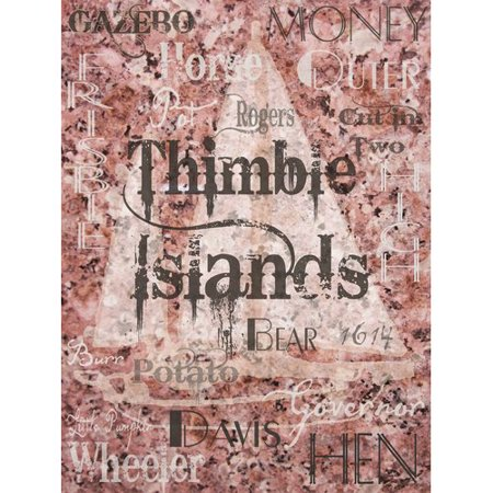 Red Barrel Studio Wafer 'Thimble Islands' Graphic Art on Wrapped Canvas