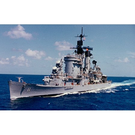 LAMINATED POSTER The U.S. Navy guided missile cruiser USS Chicago (CG-11) in the Coral Sea 1979. The photograph was t Poster Print 24 x 36
