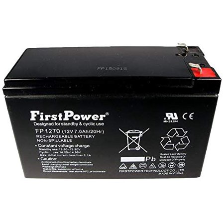 FirstPower 12v 7ah for APC Back-UPS CS 350, BK350, BK350i, BK350Ei UPS Batt FirstPower 12v 7ah for APC Back-UPS CS 350, BK350, BK350i, BK350Ei UPS BattFirstPower 12v 7ah Sealed Lead Acid Batteries are made with the highest quality of materials available. Our Lead Acid Batteries are typically used for: Home Alarm Systems, Uninterruptible Power Supply(UPS), Lighting Equipment, General Electronics, Home Security Systems, Emergency Systems, Medical Devices, Electric Scooters, Solar Collectors, Wheelchairs and many Other Applications. Whether it's the SECURITY of your home, the MOBILITY of your machine, or even just a personal HOBBY, be sure to use the most efficient batteries availableLength: 11.0 Width:9.0 Height:1.0Weight:5.1