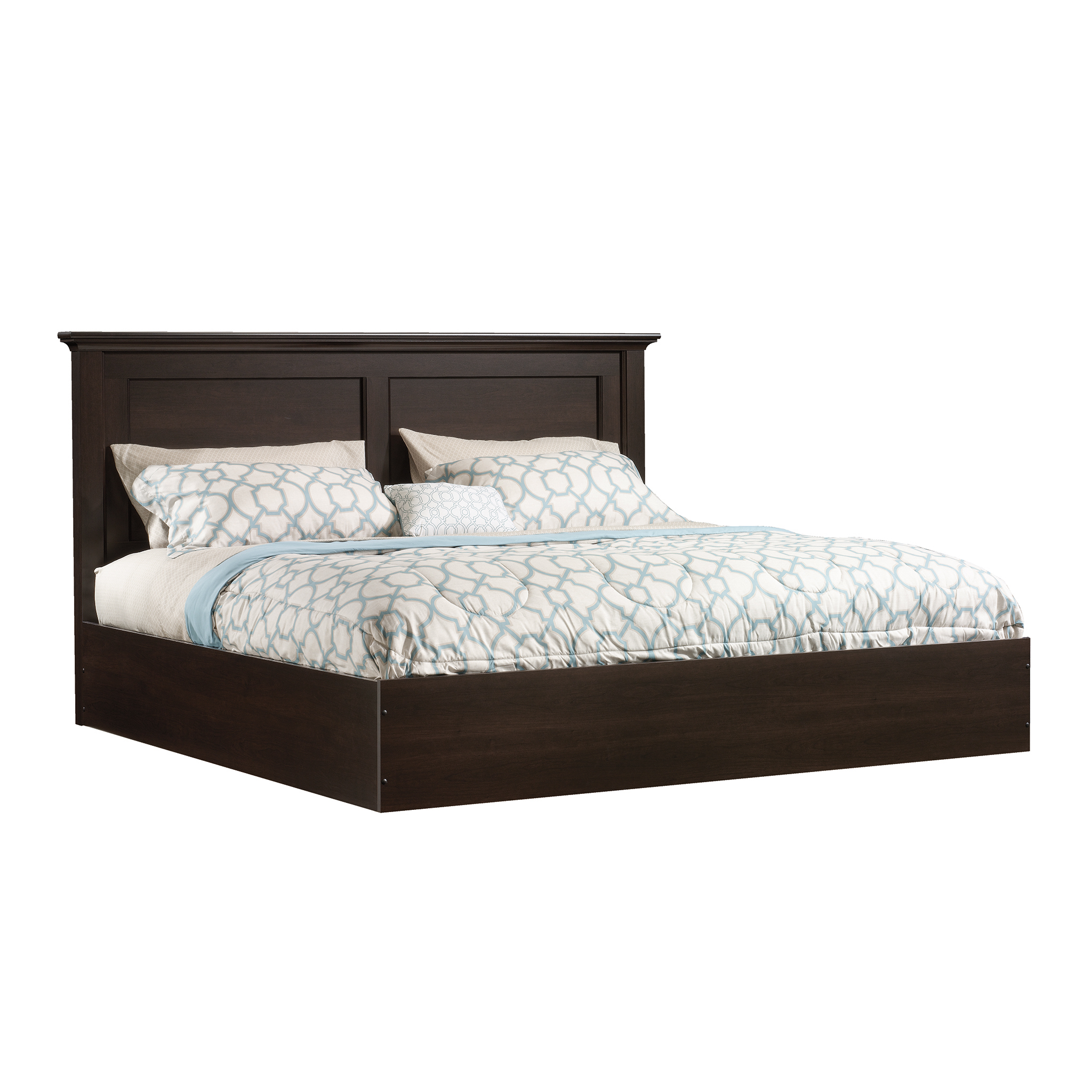 Sauder Beginnings King Platform Bed, Cinnamon Cherry Finish