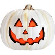 Molded Light Up Jack O Lantern, Stone Halloween Decoration