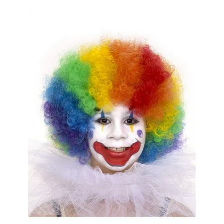 Kid's Multicolored Clown Wig - Kids Clown Wigs