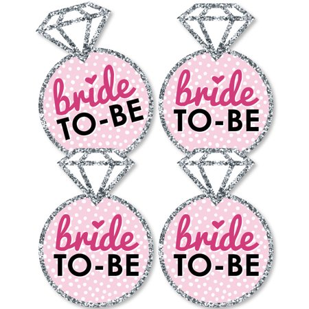 Bride-To-Be - Ring Decorations DIY Bridal Shower or Classy Bachelorette Party Essentials - Set of - Classy Bachelorette Party Decorations