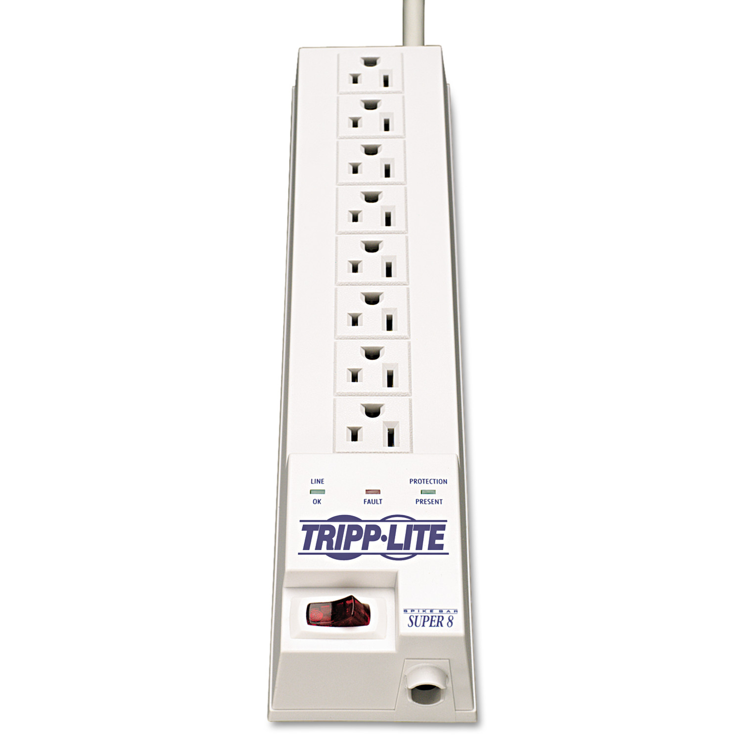 Tripp Lite SK6-6 Protect It! Surge Suppressor, 8 Outlets, 8 ft Cord, 1080 Joules, White
