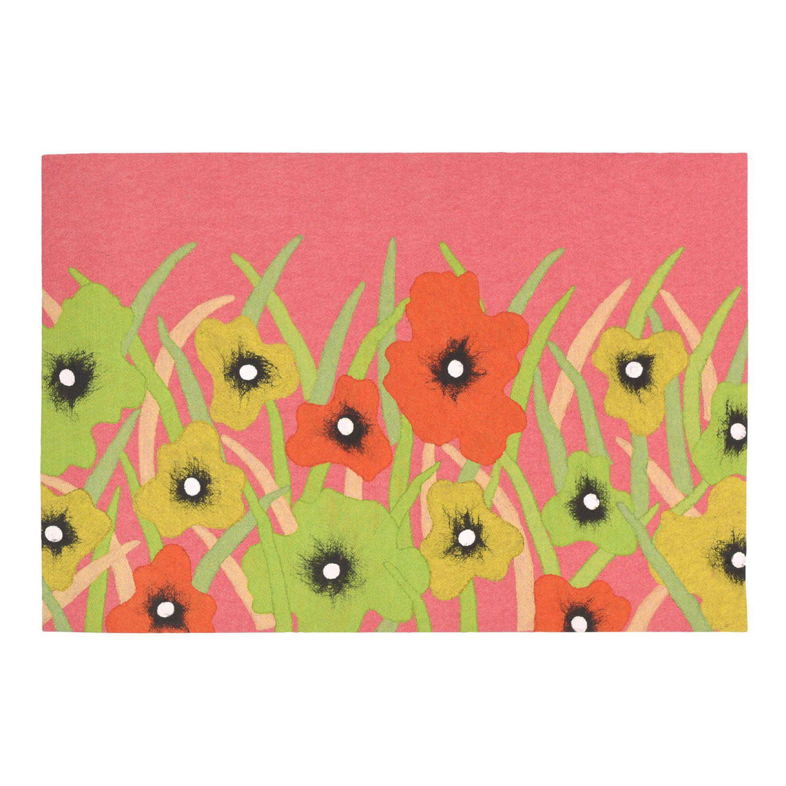 Liora Manne Visions III 3275 37 Wildflower Blush Indoor   Outdoor Doormat by Supplier Generic