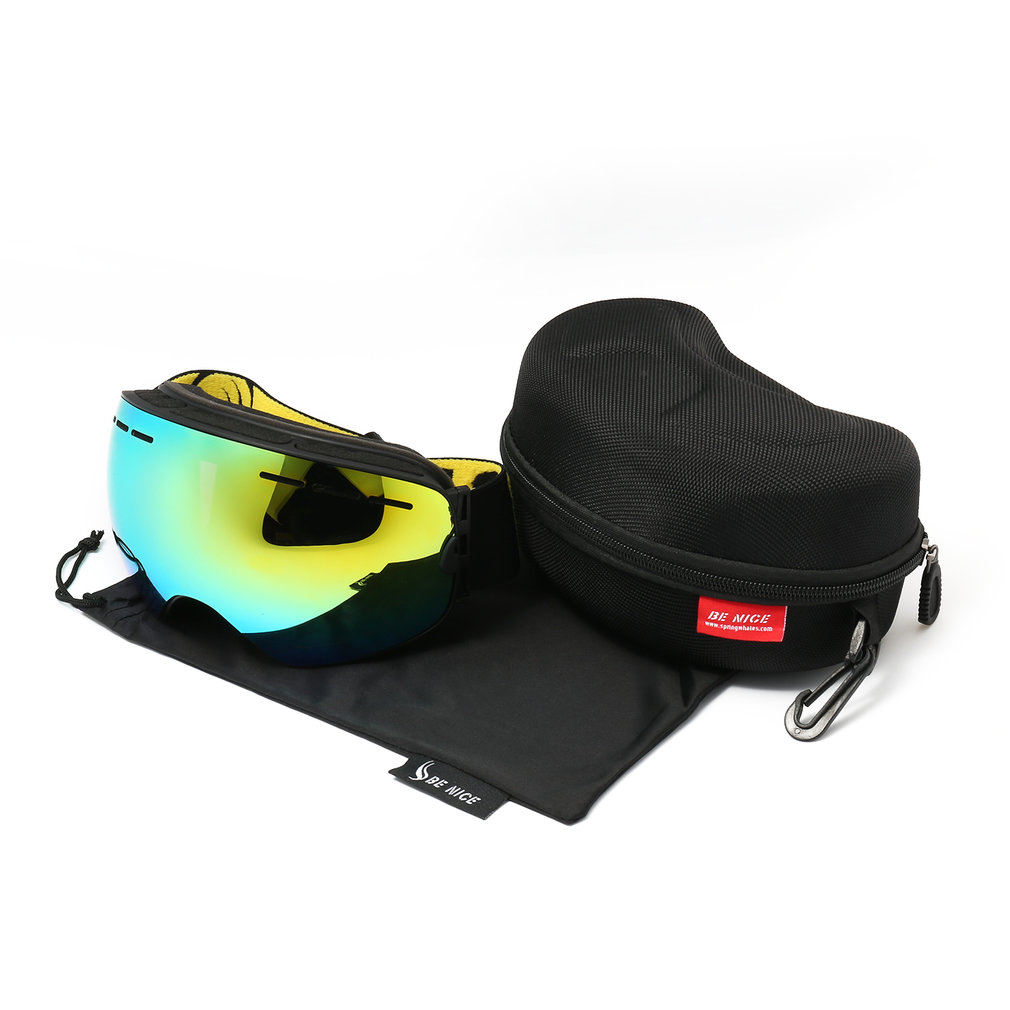 Ski Snowboard Snowmobile Frameless Goggles Magnet Lens UV400 Protection by Music
