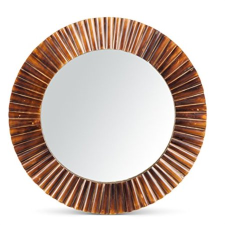 Lone Elm Wall Art Bamboo Fluted Mirror ()