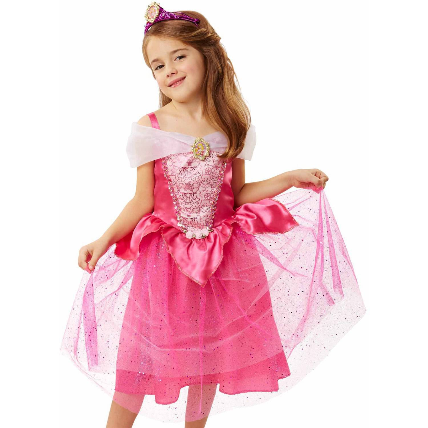 Size 56 Aurora Sleeping Beauty Birthday Outfit Sleeping Beauty Princess Dress Birthday Outfit Pinafore Dress and Crown Princess Dress