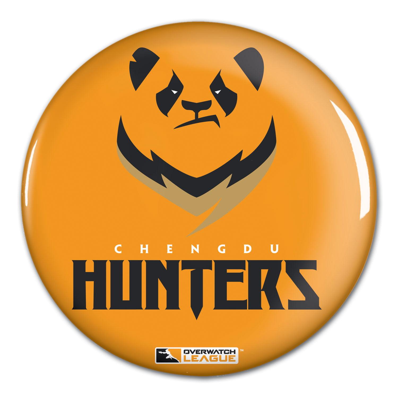 "Chengdu Hunters WinCraft Team Logo 1.25"" Button Pin - No Size"