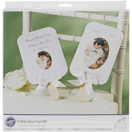 Wilton Send-off Favors Fan Kit, 24 Ct