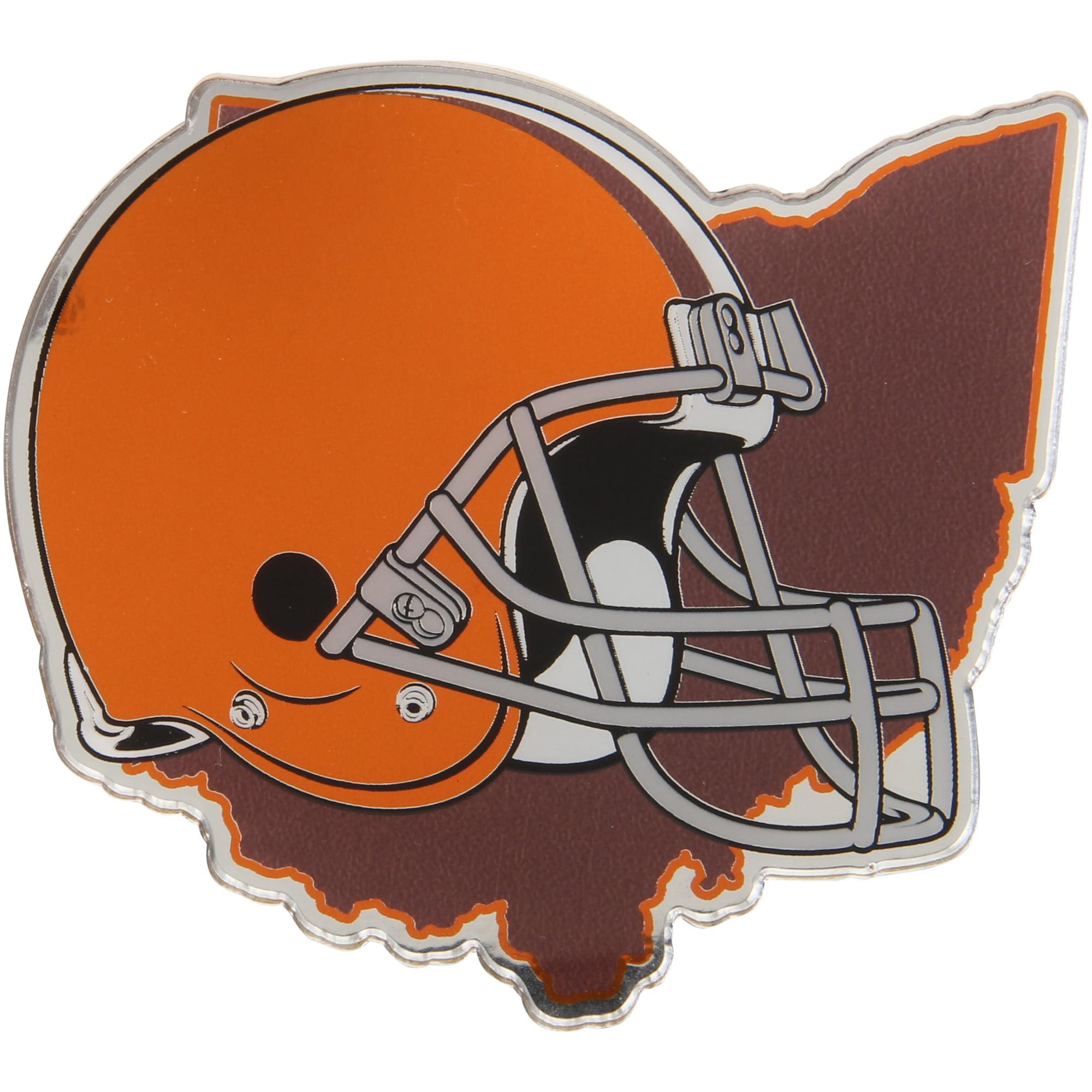 Cleveland Browns State Shape Acrylic Metallic Auto Emblem - No Size