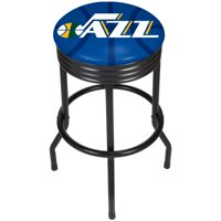 NBA Black Ribbed Bar Stool - Fade - Utah Jazz