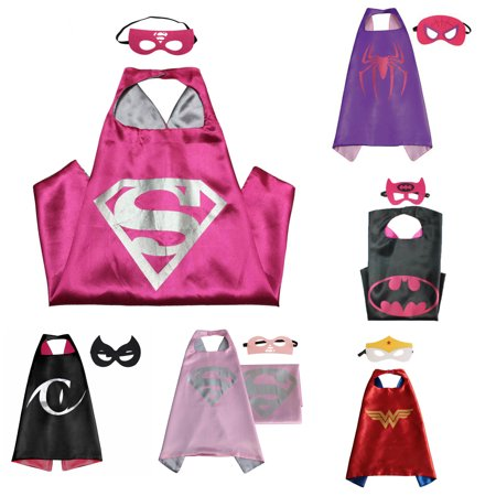 6 Set Superhero  Costumes - Capes and Masks with Gift Box by Superheroes (Latex Superhero Costume)