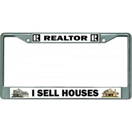 Realtor I Sell Houses Chrome License Plate Frame - image 1 of 1