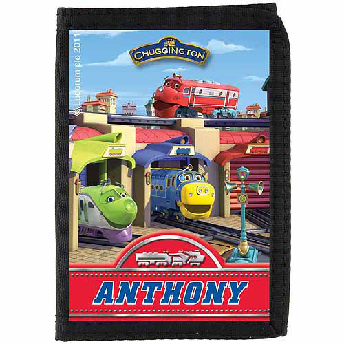 Personalized Chuggington Station Scene Wallet