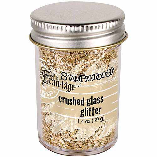 Stampendous Stampendous Glass Glitter, 1.59 oz, Champagne
