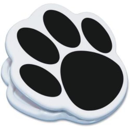 Ashley Animal Paw Magnet Clip - Animal Theme/subject - Paw - Magnetic - Black - 1 Each (ash-102322)