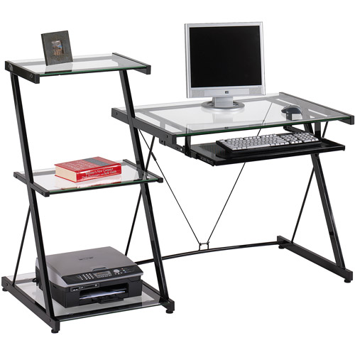 Studio Desk and Bookcase, Black