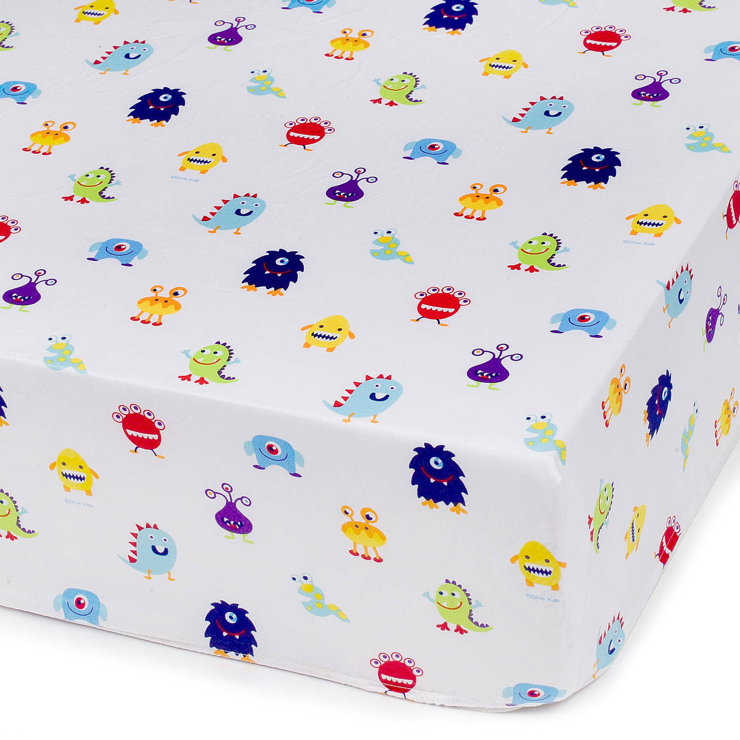 Olive Kids Monsters Fitted Crib Sheet