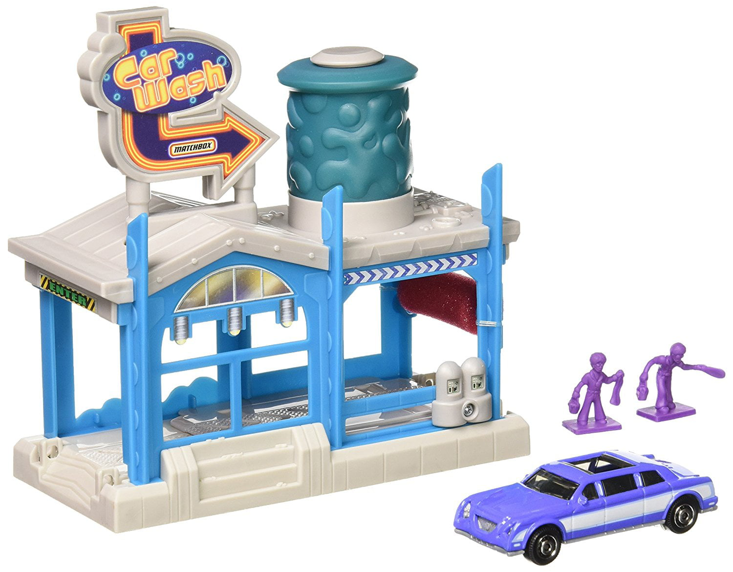 Matchbox Car Wash Playset with Die-Cast Car, Great addition to ...