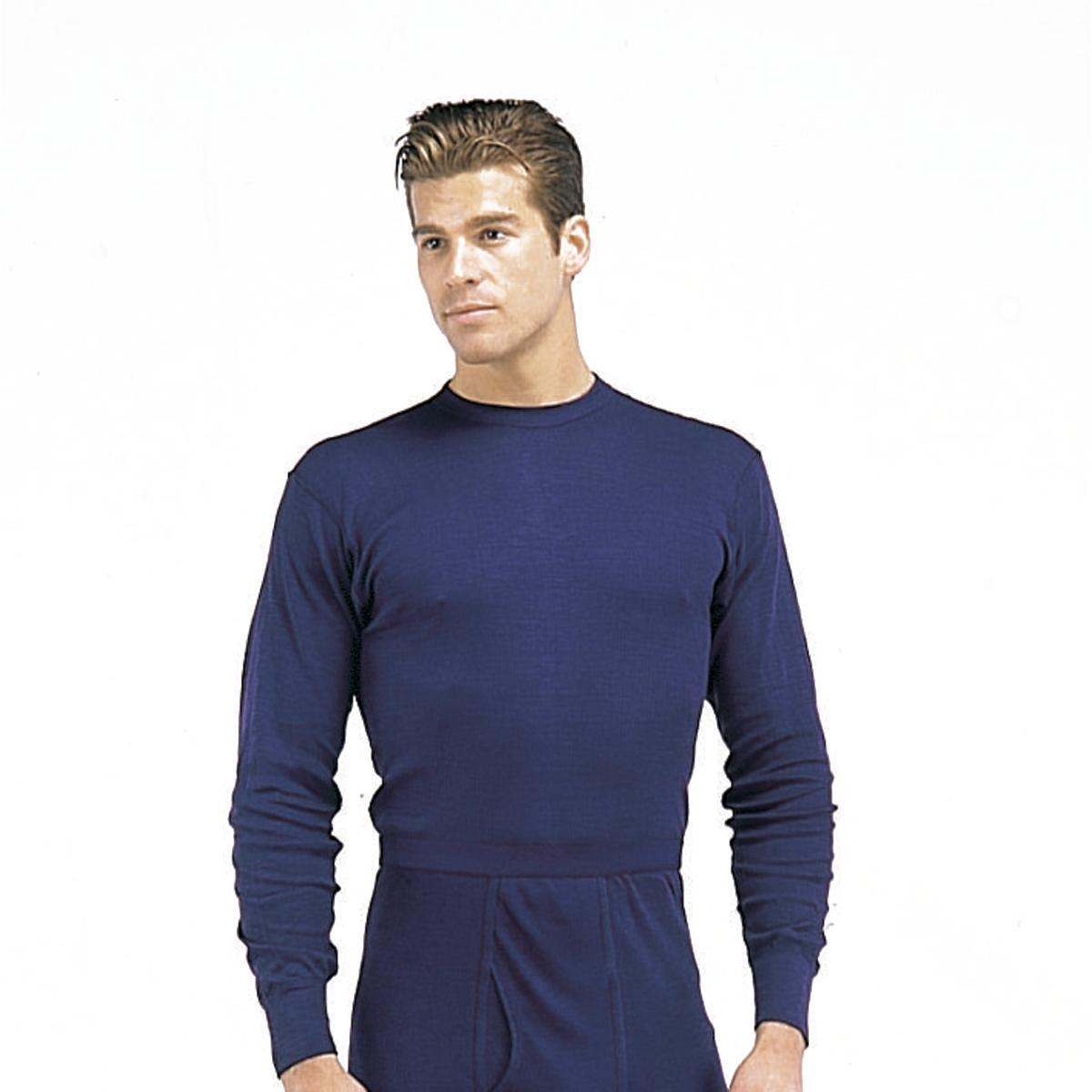 Indera Blue Polypropylene Thermal Long Underwear Tops, Shirts by Indera Mills