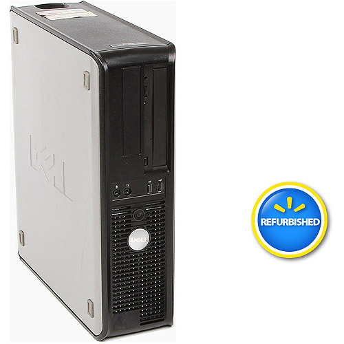 Refurbished Dell Black/Silver 755 Desktop PC with Intel Dual-Core Processor, 2GB Memory, 160GB Hard Drive and Windows 10 Home (Monitor Not Included)