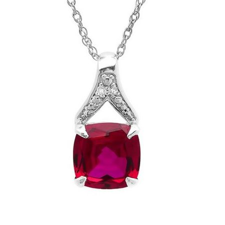 Amanda Rose Collection Created Ruby   Diamond Pendant In Sterling Silver  44  2 5 Ct