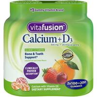 Vitafusion Calcium Gummy Vitamins, 100ct Twin Pack