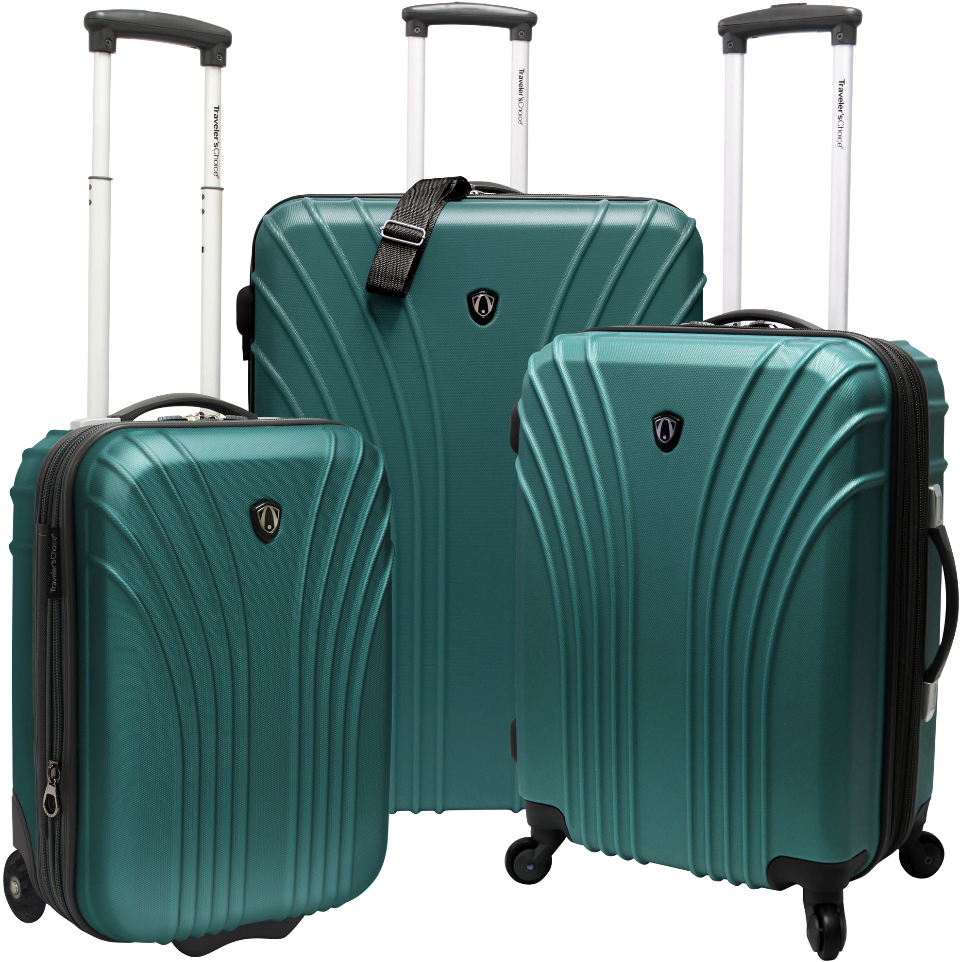f443a4717 Traveler's Choice - Hardsided 2-Piece Ultra Lightweight Spinner Luggage Set  - Walmart.com