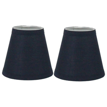 Shade 20 Chocolate - Urbanest Navy Blue Cotton Chandelier Lamp Shade, 3x6x5