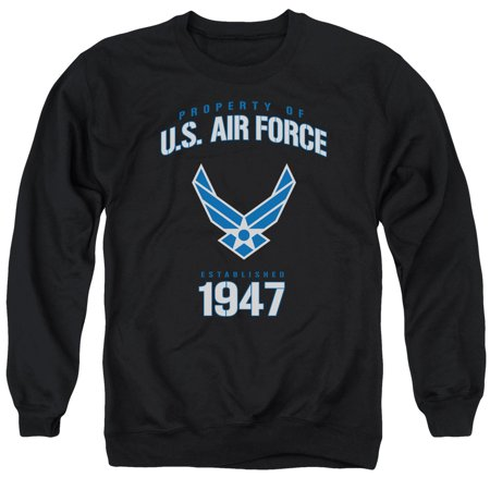 Air Force Property Of Established 1947 Blue & White Logo Adult Crew