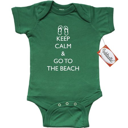 Inktastic Keep Calm   Go To The Beach Infant Creeper Summer Vacation Ocean Baby
