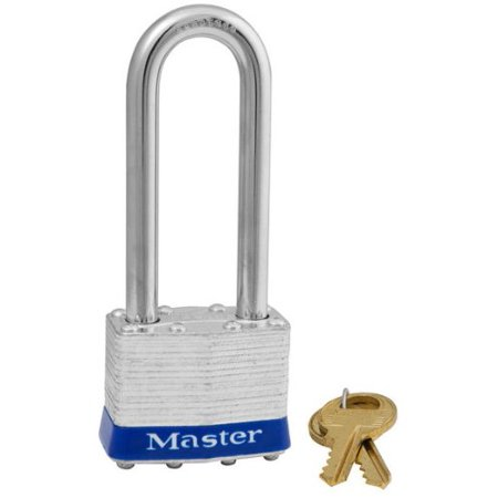 1 3/4in. Steel Keyed Different Padlock with 2 1/2in. Shackle, Model# 1DLJ, 4-pin cylinder helps prevent picking By Master Lock (Lock Pick Military)