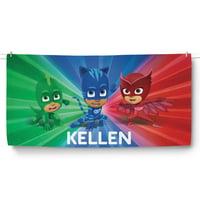 PJ Masks Personalized Kids Beach Towel