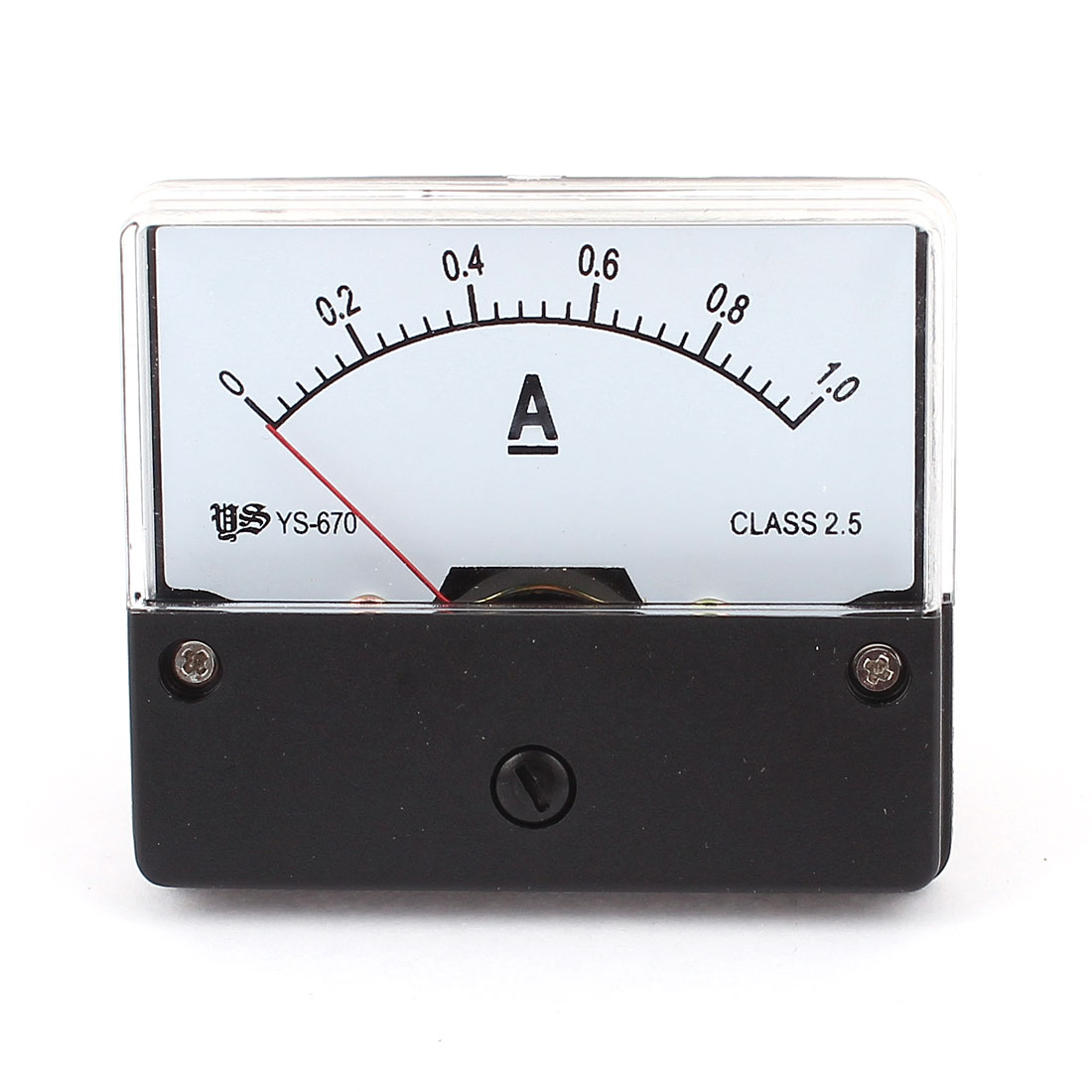 Unique Bargains DC 0-1A 1A Panel Analog Ammeter Current Meter Gauge White YS-670