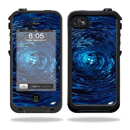 Mightyskins Protective Vinyl Skin Decal Cover for LifeProof iPhone 4 / 4S Case wrap sticker skins Blue Vortex